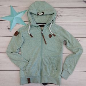 NEW Naketano Brave New Word mint green sweatshirt